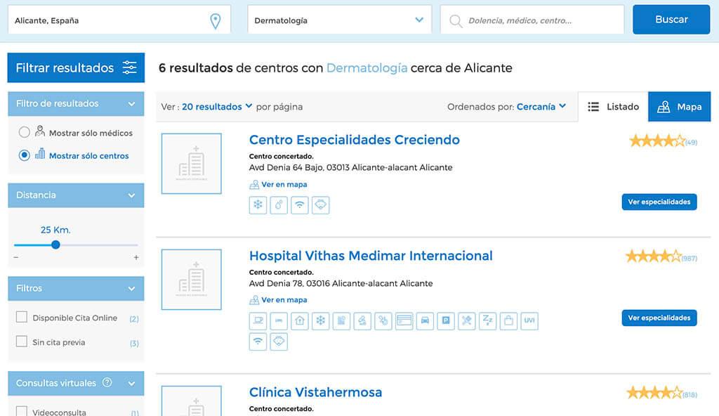 centros cuadro medico sanitas