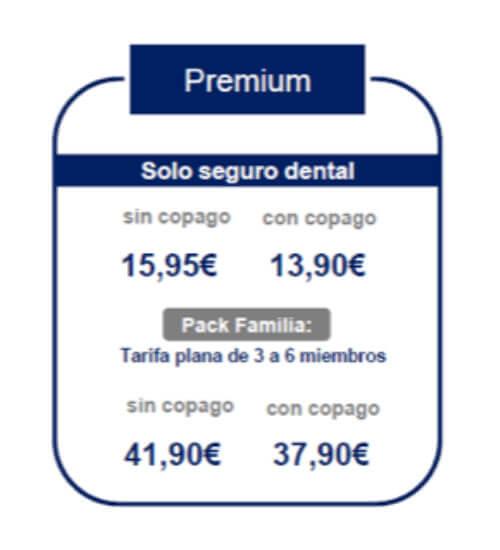 precios seguro dental completo Sanitas 2020