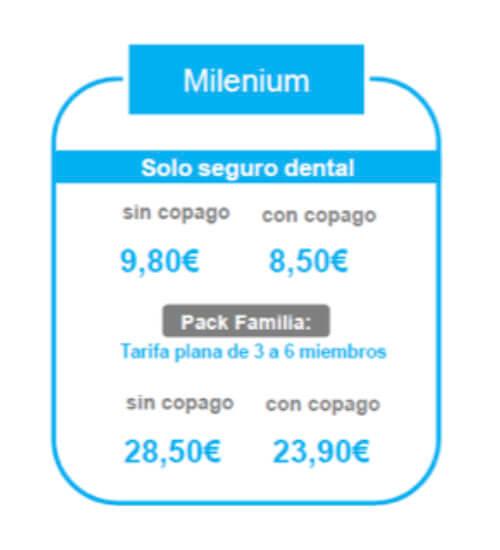 precios seguro dental básico Sanitas 2020
